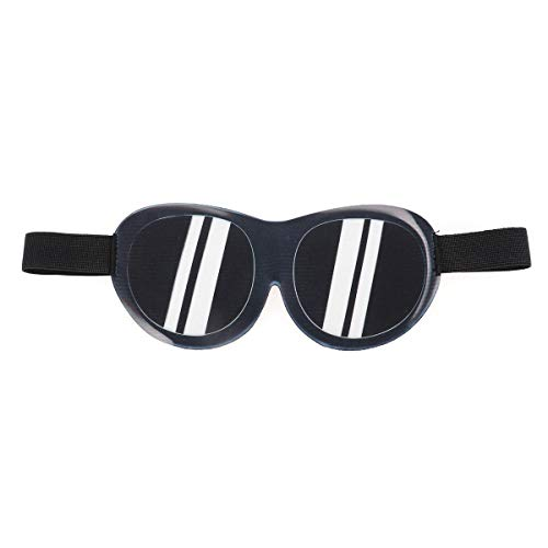 Lurrose 3D slaapmasker grappige zonnebril gedrukt Eyeshade licht slaapoogmasker voor reissamenschap