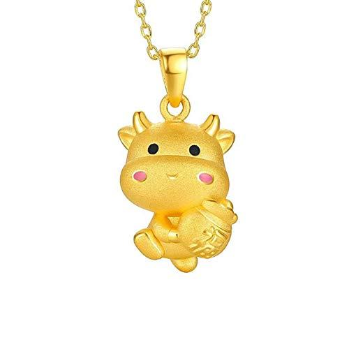 Collares, Lindo Vaca Signo del zodiaco Latón Suerte Bendición Collar de la Joyería para Viajes - 1