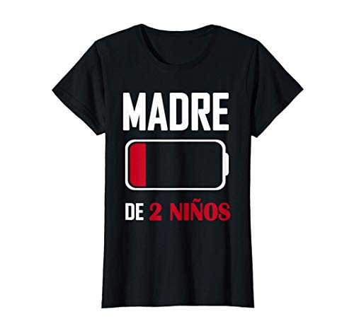 Mujer Día de la Madre Original - Madre de 2 Niños Camiseta
