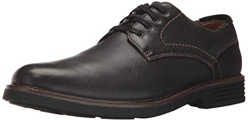 Dockers Mens Parkway Leather Dress Casual Oxford Shoe with NeverWet, Black, 11 W
