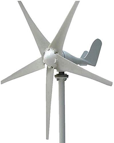 Generador eléctrico de turbina eólica, controlador de carga de energía de molino de viento, 5 palas de rotor híbrido generador de viento doméstico, 400 W 24 V