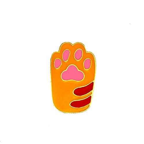 Broches de botón con diseño de pata de gato, diseño de perro y pata de gato, accesorios de ropa, Metal,