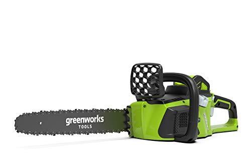 Greenworks Tools 3820077 Motosierra Inalámbrica, 40 V, verde, 40 cm (1 kw)