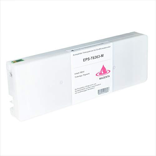Tintenpatrone kompatibel für Epson Stylus T6363 C13T636300 Pro WT 7700 7890 7900 9700 9890 9900 SpectroProofer UV Series EFI - Magenta 700ml