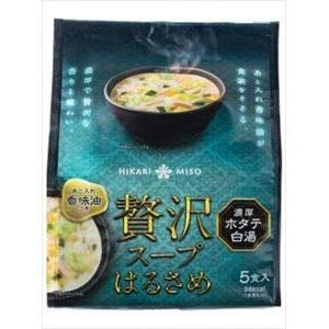 ひかり味噌 贅沢スープはるさめ ホタテ白湯 5食×6入