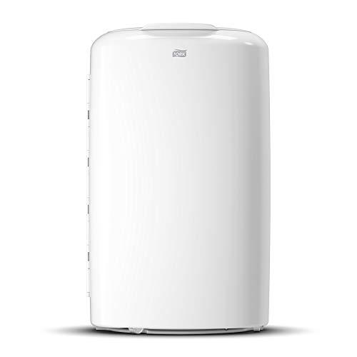 Tork 563000 Cubo de basura abierto Elevation Blanco/Papelera sólida - sin tapa - compatible con bolsas de plástico de Tork B1, 50 litros
