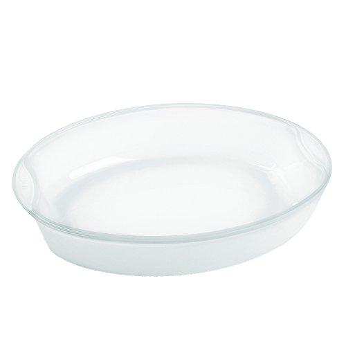 Bohemia Cristal 093 012 312 Play of Colors Cooking Brat-und Backschale oval ca. 2,5 ltr. weiß aus hitzebeständigem Borosilikatglas Auflaufform, Glas, 32 x 25 x 6.3 cm