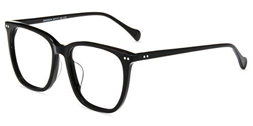 Firmoo Blaulicht Brille ohne Sehstärke, Damen Blaulichtfilter Computer Brille, Herren Eckige Brille anti UV, Blendfrei, Übergroße Rahmen für Schmale Gesicht, Rahmenbreit 124mm,Schwarz