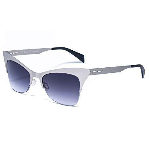 italia independent 0504-075-075 Gafas de sol, Plateado, 51 para Mujer