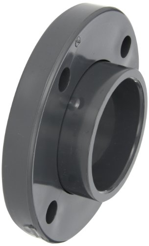 GF Piping Systems PVC Pipe Fitting, Van-Stone Flange, Schedule 80, Gray, 3' Slip Socket