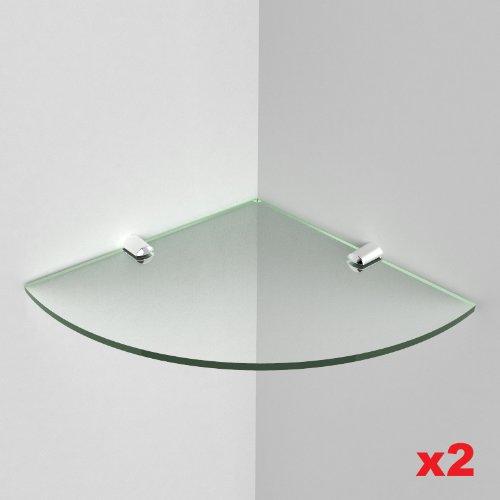 Dos estantes acrílico esquina rígida 5mm acrílico–tamaño