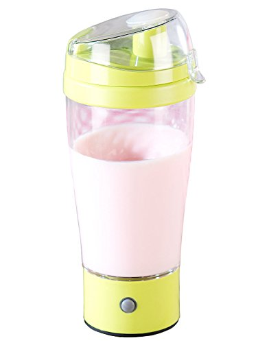 Rosenstein & Söhne Mixbecher: Selbstrührender Trinkbecher mit elektrischem Quirl, 450 ml, BPA-frei (Elektrischer Shaker)