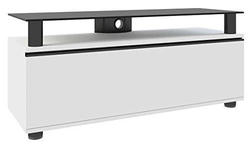 VCM TV Lowboard Fernseh Bank Rack Tisch Schrank Sideboard Lack Holz Weiß