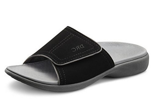 Dr.Comfort Men's Connor Sandal Nubuck: Black 11 Wide (E/2E)