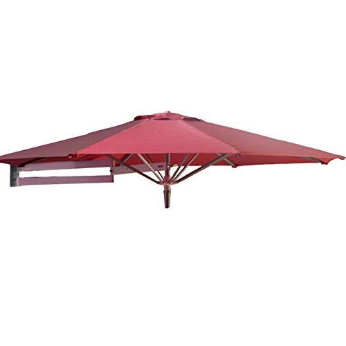 HH- Sonnenschirme Kippen des Sonnenschirms, Garten-Teleskop-Sonnenschirm an der Wand, Freitragender Sonnenschirm im Freien für Balkonterrasse, Rot (Size : 2.5m)