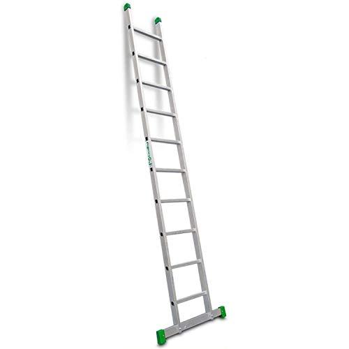 Escalibur | ES.SIMPLE | Escalera de Apoyo de 1 Tramo| Escalera 10 Peldaños | 307x42x8 cm | Utilizada en Trabajos de Bricolaje | Taco Antideslizante | Máxima seguridad y confort