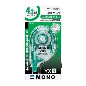 トンボ鉛筆 MONO YX 修正テープ 本体 幅4.2mm つめ替えタイプ CT-YX4 5個セット