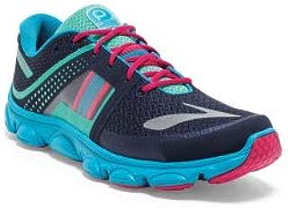 Girl's PureFlow 4 Running Shoe, Peacoat/Green/Hawaiian, 7 D Big Kid US
