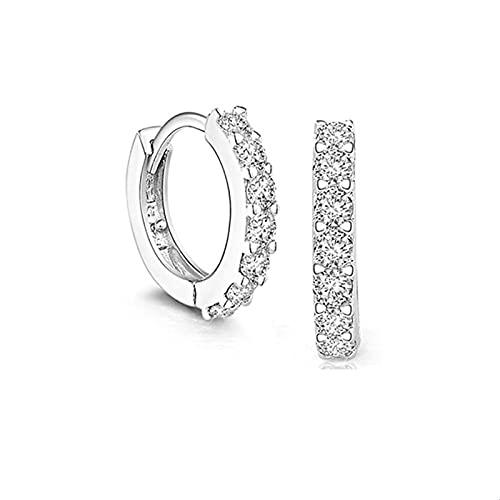 Pendiente circular de cristal de plata de ley 95 para mujeres que hacen joyería, regalo, compromiso de fiesta de boda