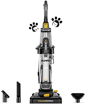 Eureka PowerSpeed Aspiradora vertical sin bolsa, Pet Turbo, negro