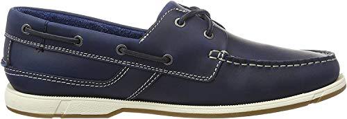 Clarks Herren Fulmen Row Bootsschuhe, Blau (Navy Leather), 41.5 EU (7.5 UK)