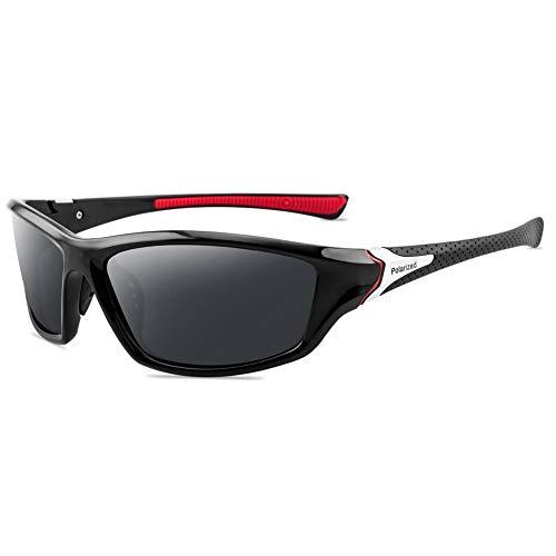 Grainas Gafas de sol polarizadas deportivas para hombres y mujeres Ciclismo Gafas de sol Pesca conducción senderismo marco irrompible