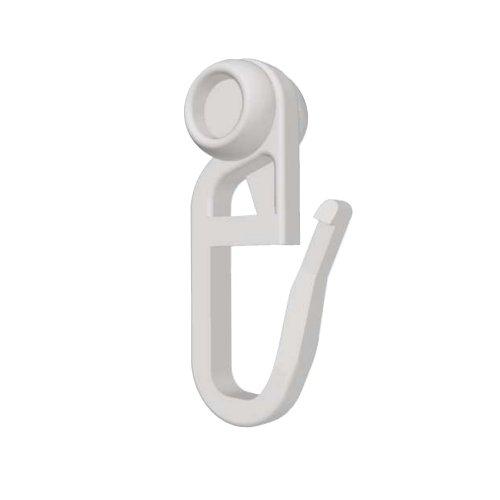 Rollringe Ø8mm halbrund für 4mm Laufbreite - Gardinenrollen für Vorhangsschienen - 100 Stück - Qualität Made in Germany
