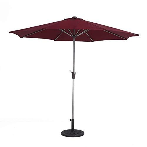 Upgrade Sonnenschirme 270 cm Gartenschirm - Sonnenschirm im Freien für Strand- / Pool- / Terrassenschirme Runder Sonnenschutz - Weinrot