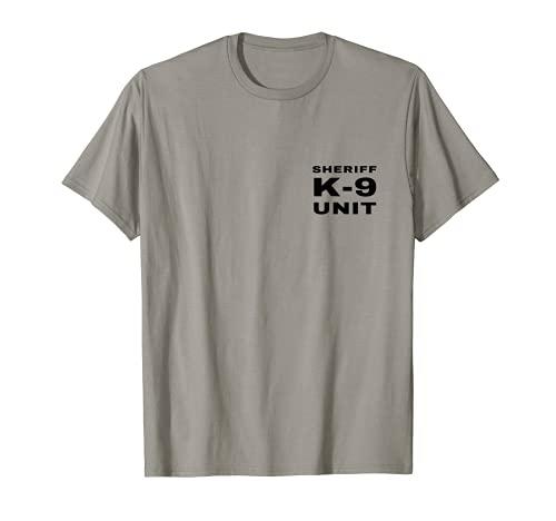 Sheriff K-9 Unit Front And Back Print K9 Police Dog Handler T-Shirt