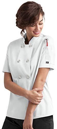 ChefUniforms.com Women's Classic Chef Coat (XS-5X, 2 Colors) White