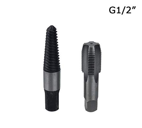 QHXCM G1/2'' Pipe Thread Screw Tap Broken Screws Extractor Drill bits Water Pipe Taps Extractor Removal Tools