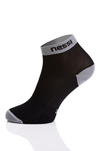 Nessi Chaussettes de sport modèle RSN Chaussettes de course pour homme et femme Plusieurs couleurs – Noir/gris 38–41