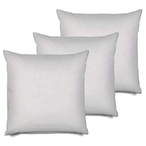 Review Of MSD 3 Pack Pillow Insert 24X24 Hypoallergenic Square Form Sham Stuffer Standard White Poly...