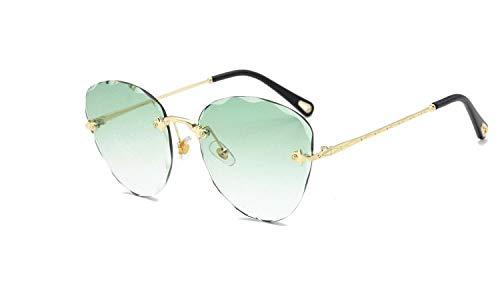 GYYY Occhiali da sole ellittici senza cornice rifilatura occhiali da sole non ortodossi sfumati Ocean Film personalità occhiali da sole Ms (Colore: G)
