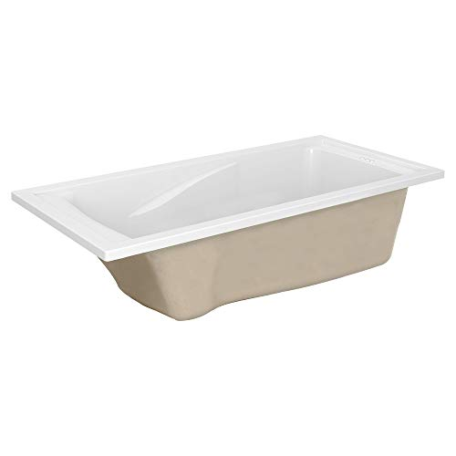 American Standard 7236V002.020 Evolution 6 Ft. X 36 In. Deep Soaking Tub with Reversible Drain, White