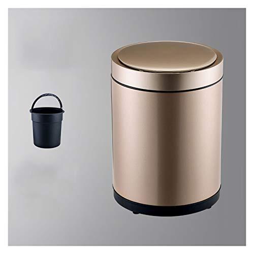 YIXIN2013SHOP Cubo de Basura Papelera de Basura con toneladas de Basura eléctrica Inteligente con Tapa con Tapa de Basura Impermeable Redonda, alimentada por baterías (no incluida) Papeleras
