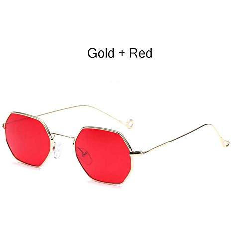 Chudanba Polygon Sonnenbrille Hexagonal Damen Herren Sonnenbrille Sonnenbrille Hexagon Metal Frame Eyewear,Stil 3