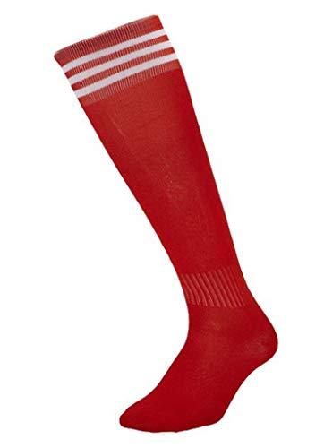 YiyiLai 1 Paar Kinder Junge Sport Outdoor Fussball Socke Strumpf Trekkingsocken Laufsocken 26-35 Größe Rot