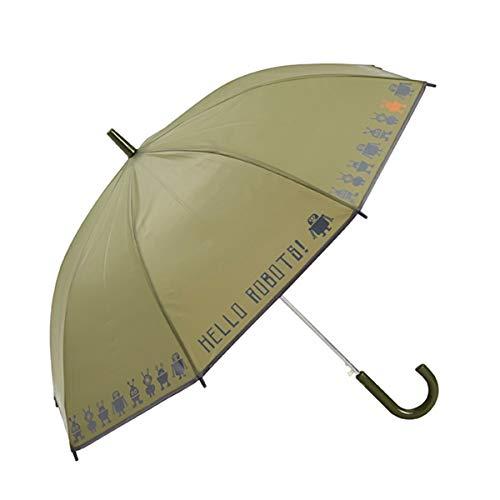 GOTTA Paraguas Infantil niño/niña. Antiviento y automático. Estampado Robots - Verde