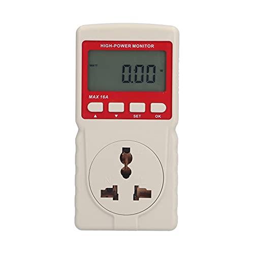 Monitor de potencia GM89-EU, probador de corriente de voltaje de vatio digital de alta energía, valor de potencia LCD, monitor de electricidad de frecuencia, UE 220 V