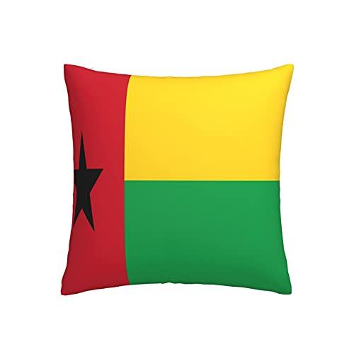 Kissenbezug Flagge von Guinea-Bissau, quadratisch, dekorativer Kissenbezug für Sofa, Couch, Zuhause, Schlafzimmer, Indoor Outdoor, niedlicher Kissenbezug 45,7 x 45,7 cm