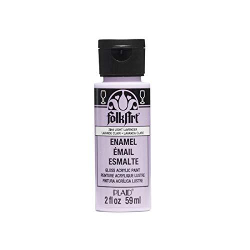 FolkArt Enamel Glass & Ceramic Paint in Assorted Colors (2 oz), 2844, Light Lavender
