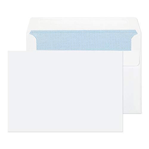 Purely Everyday Selbstklebende Briefumschläge, C6 (114x162mm), Weiß, 1.000 Stück
