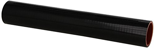 HPS HTST-162-BLK Silicone High Temperature 4-ply Reinforced Tube Coupler Hose, 80 PSI Maximum Pressure, 12