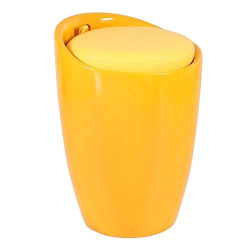 ZXQZ Zapatos de Cambio de Taburete Taburete Taburete de uñas Taburete Sofá Taburete Wine Barrel Chair Una Variedad de Colores Opcional (Color : Amarillo)