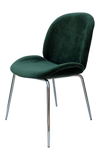 Kayoom Charlize 110 - Silla (2 unidades), color verde y cromado