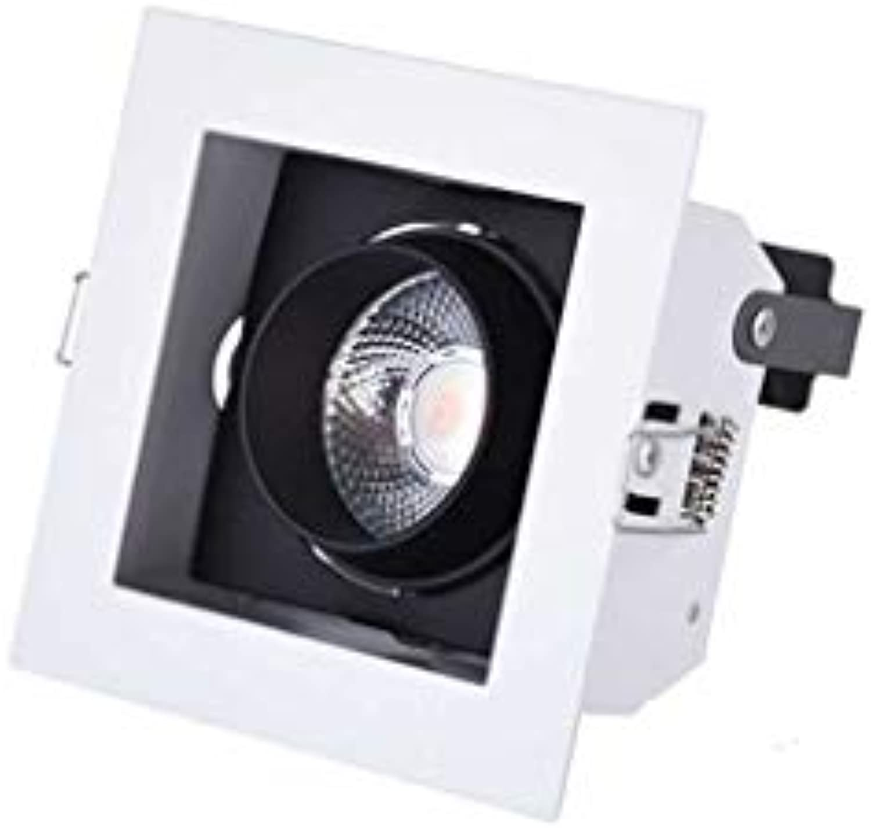 Downlight LED Einbaustrahler Decke Bürobeleuchtung Ganglampe Wandfluter (Farbe   Warm light-100  100mm)