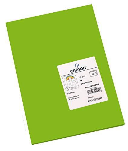 Canson Iris - Cartulina, 50 Unidades, Color Verde Billar