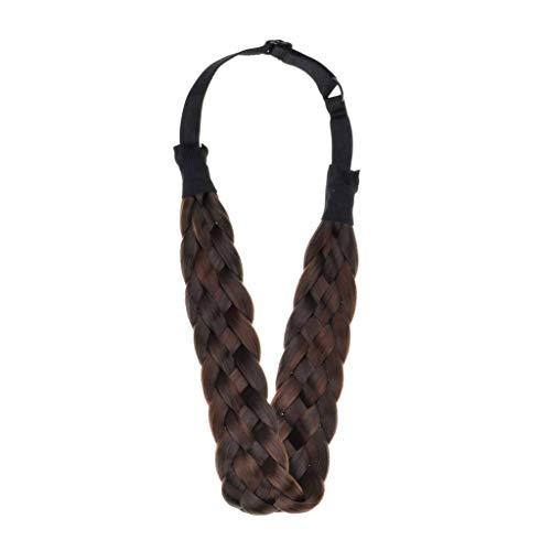 Qiuday Haarreifen mit geflochtenem Zopf Haarteil Haarband Kopfschmuck Haarschmuck