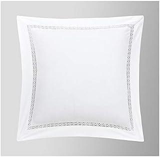 Duffi Home Funda cojín, Blanco, 45 x 45 cm